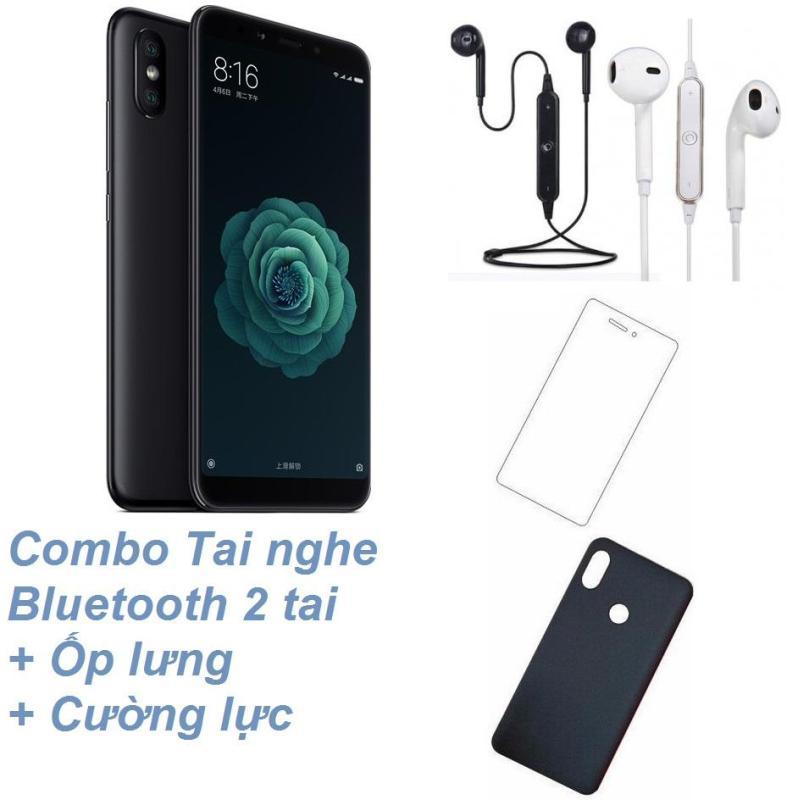 Xiaomi Mi 6X 64GB Ram 6GB (Đen) + Tai nghe Bluetooth 2 tai + Cường lực + Ốp lưng - Hàng nhập khẩu