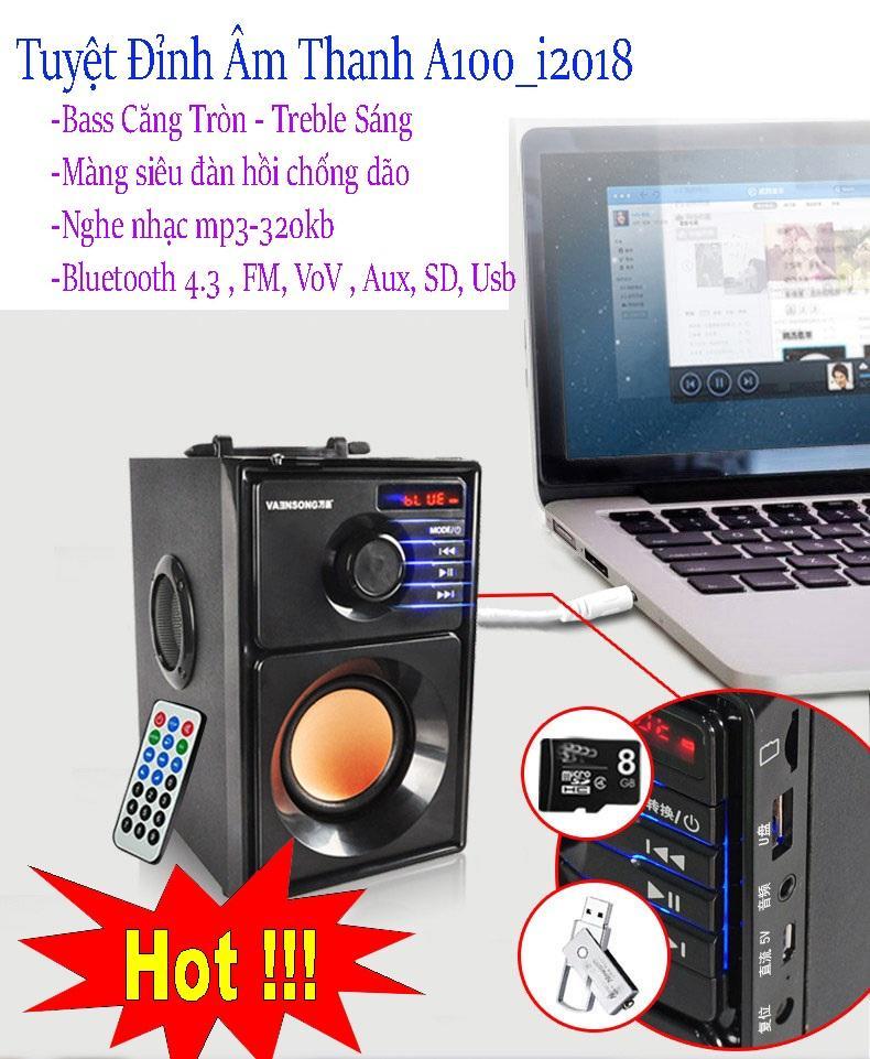 Hình ảnh Tai Nhac App Mobile Nhaccuatui, Tuyệt Đỉnh Âm Thanh Loa A100 - 203 Korea, Bass ấm, Treble Sáng, Tiếng Trong, Nghe Nhạc Mp3 320Kb , Bluetooth 3.0, Fm 50Hz, Giá Sỉ Giảm 25% Mã Sp 1500