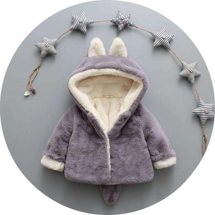 Giá bán Áo khoác lông, áo lông thời trang, áo lông giữ ấm tai thỏ cho bé siêu đáng yêu + Tặng thẻ tích điểm nhận quà tại các gian hàng.