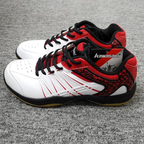 Giày bóng chuyền kawasaki K-063, giày cầu lông nam nữ Kawasaki K063 mầu trắng đỏ cao cấp, giày thể thao Kawasaki chuyên dụng K063