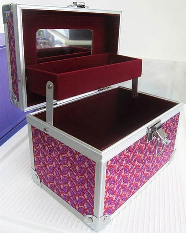 Hộp đựng mỹ phẩm dụng cụ trang điểm làm đẹp cá nhân cỡ nhỏ (19x13.5x12.5cm) KL332 cao cấp