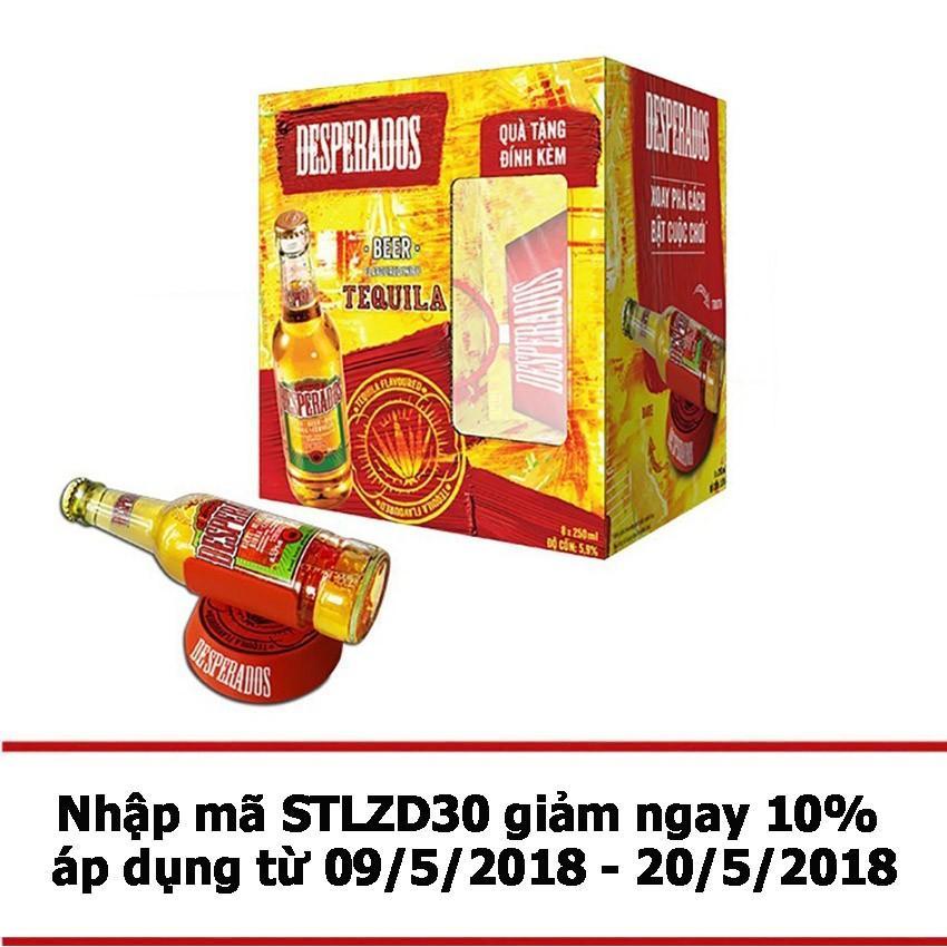 Giá Bán Bộ 8 Chai Bia Desperados Hương Vị Tequila 250Ml Va Vong Xoay Thử Thach Rẻ Nhất