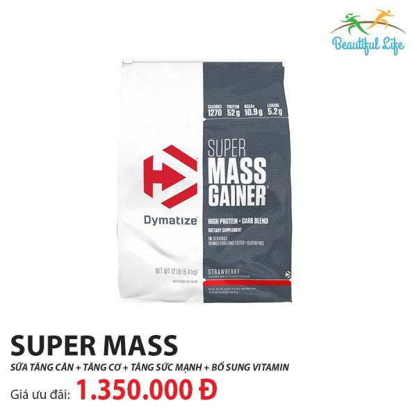 Sữa tăng cân Super Mass 5.4kg