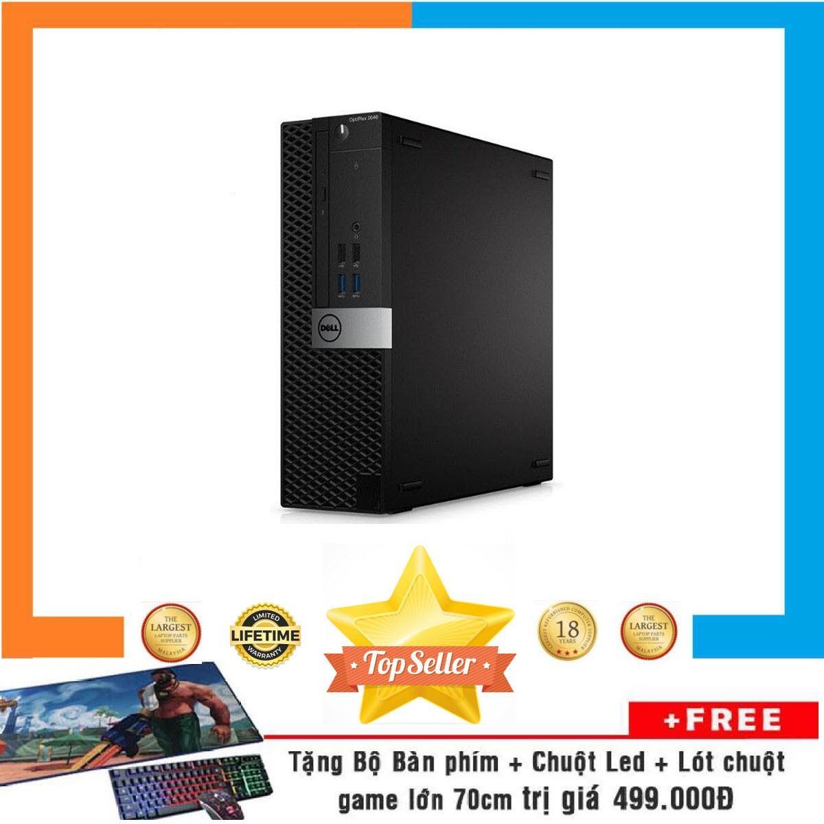 Máy tính doanh nghiệp Dell Optiplex 3040 SFF Nguyên Bản, Chạy CPU Core I7 6700, Ram 16GB, SSD 240GB, HDD 1TB + Bộ Quà Tặng
