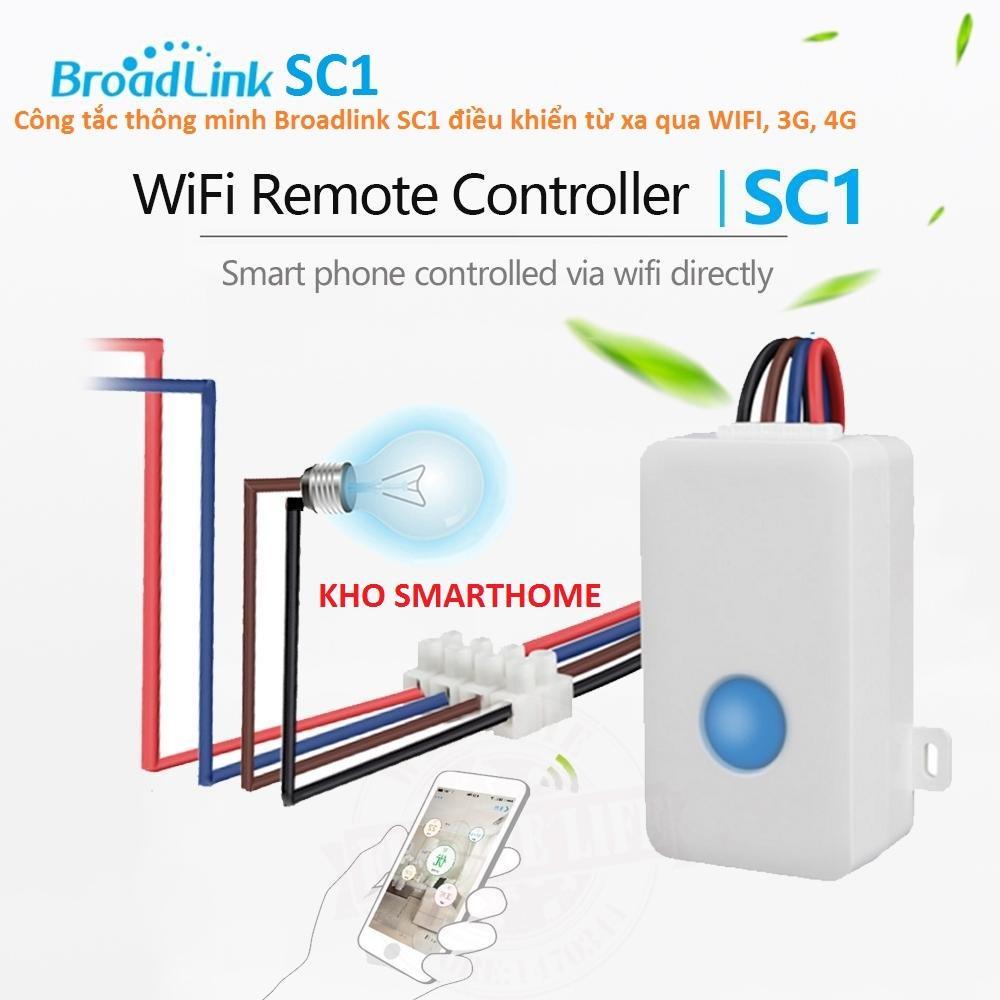 Hình ảnh Công tắc thông minh Broadlink SC1 điều khiển từ xa qua WIFI, 3G, 4G