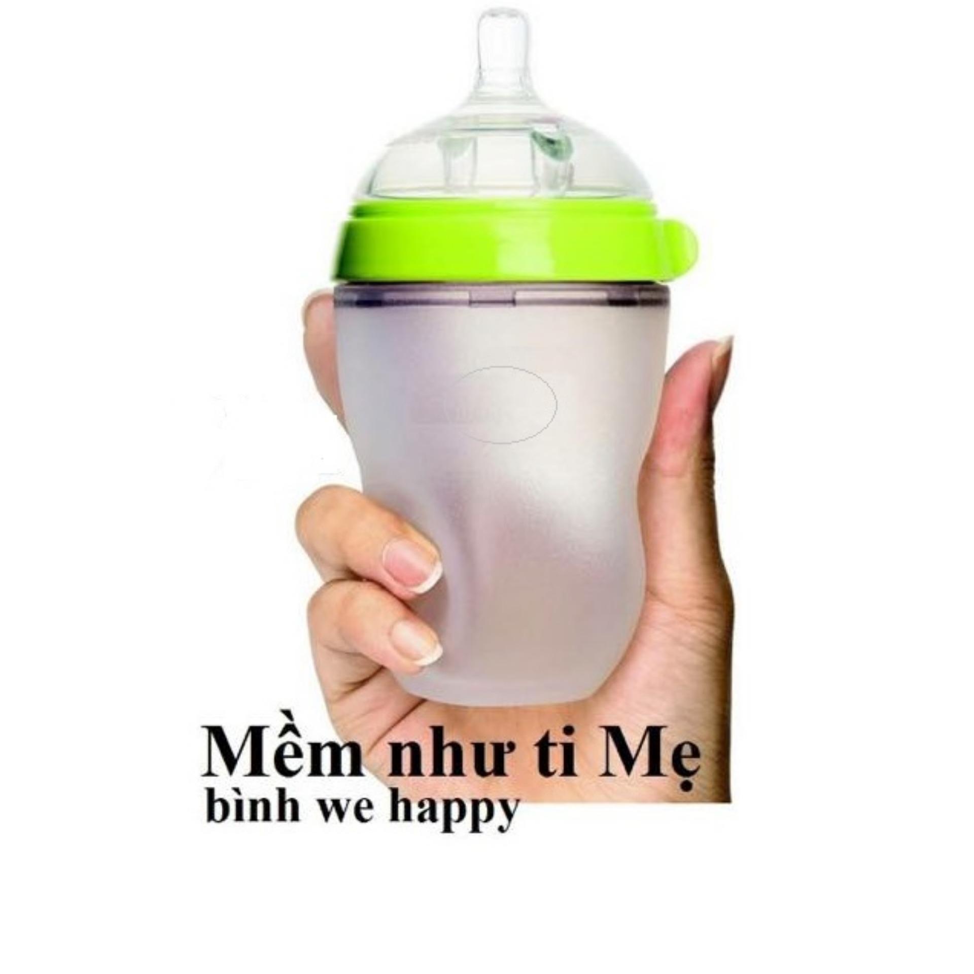 Bình sữa Silicon siêu mềm cho bé We Happy