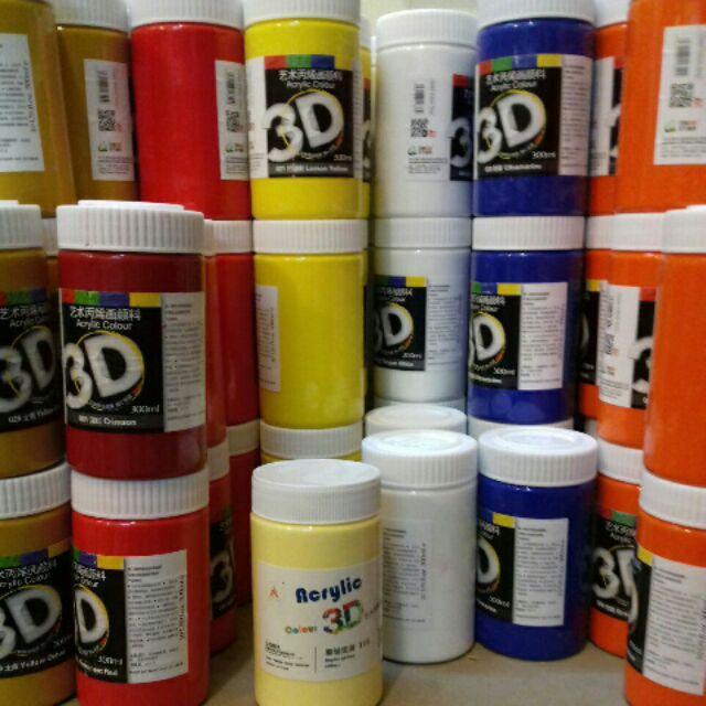 Mua Màu vẽ, combo 10 lọ acrylic 300ml (được chọn màu) HoangYen