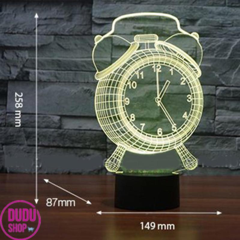 Bảng giá Bóng đèn ngủ tiết kiệm điện Den ngu tphcm Đèn Ngủ 3D Led 7 Màu Hình Đồng Hồ Cộng Nghệ Mới,  đèn ngủ, đèn trang trí vô cùng độc đáo.BH UY TIN BỞI DUDU SHOP. Mã số : NBN5039