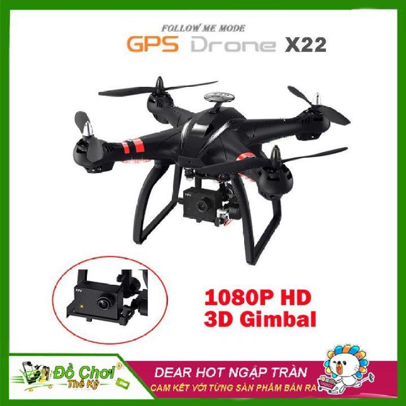 Máy Bay Flycam Bayang X22 chống rung 3 trục G3D, 2GPS, động cơ không chổi than mạnh mẽ, Truyền ảnh trực tiếp qua điện thoại