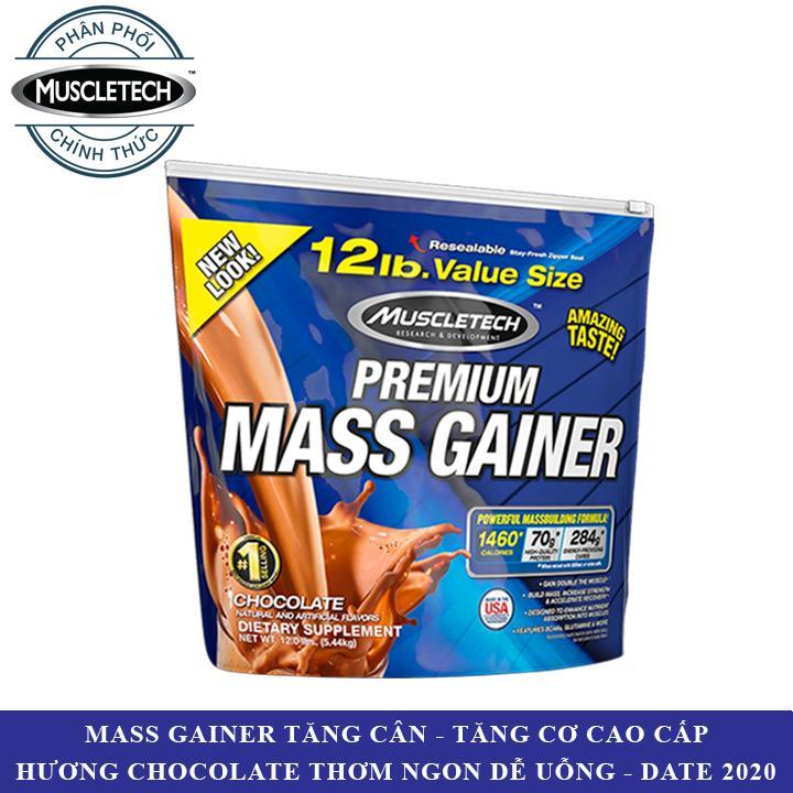 Sữa tăng cân tăng cơ Premium Mass Gainer của Muscle Tech hương Chocolate bịch 5.4 kg - Phân phối chính thức nhập khẩu