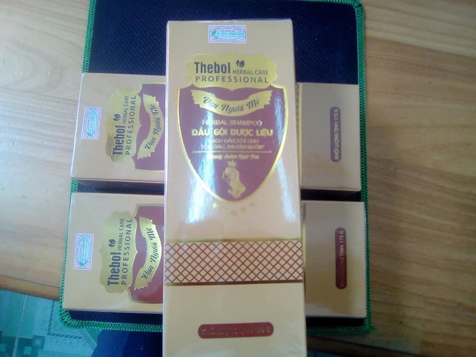 Dầu gội dược liệu Thebol trị rụng tóc, gàu,vẩy nến