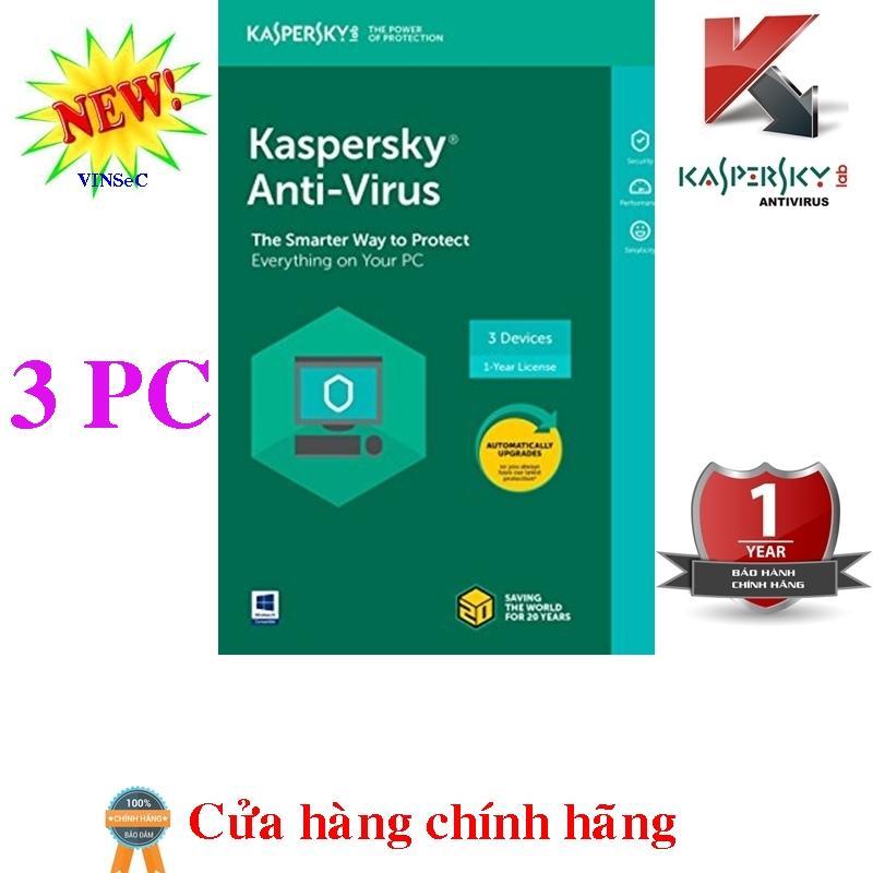 Hình ảnh Phần mềm diệt virus Kaspersky Anti-Virus 3PC/year