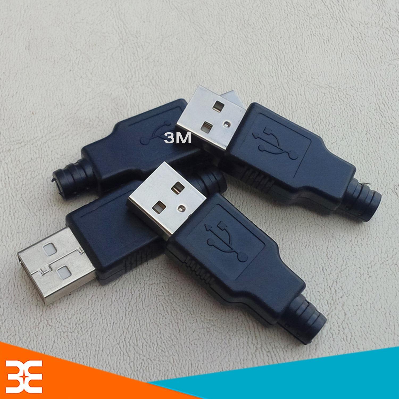 Hình ảnh Bộ 5 Đầu Jack Cổng USB A Đực 4P + Vỏ