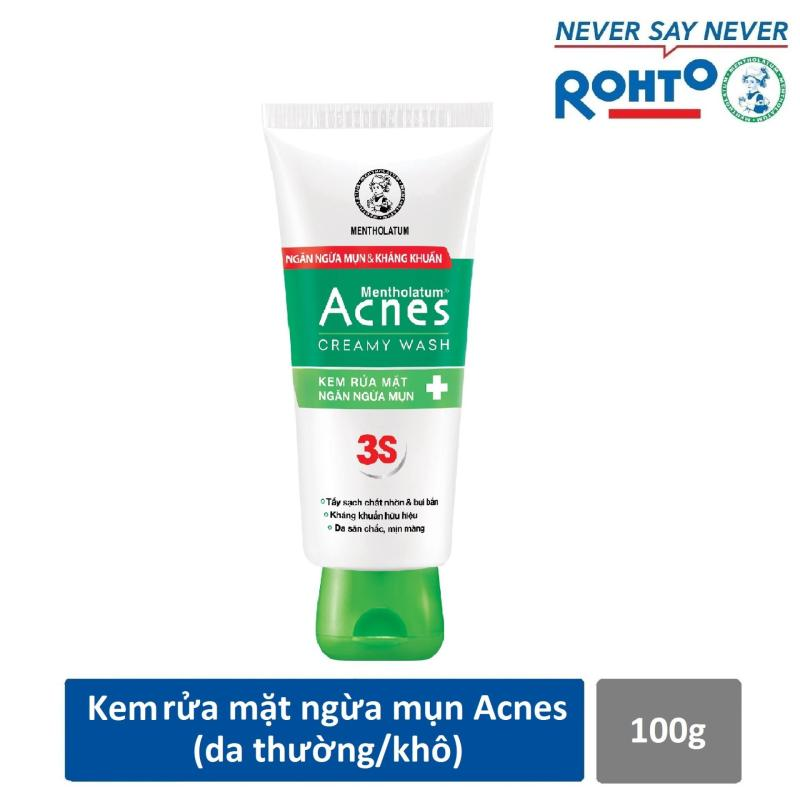 Kem rửa mặt ngăn ngừa mụn Acnes Creamy Wash 100g nhập khẩu