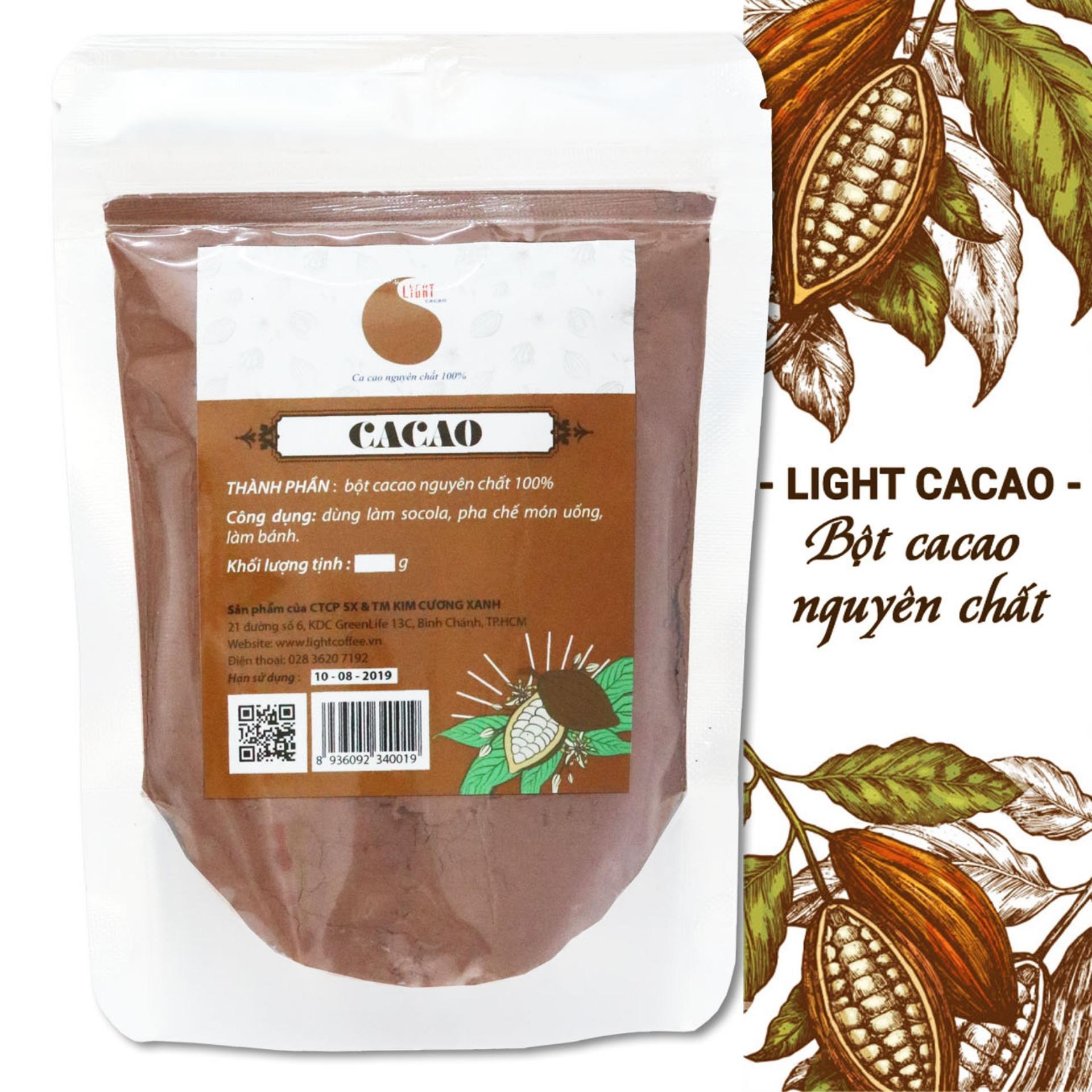 Bột cacao nguyên chất không đường Light Cacao - gói 100gr