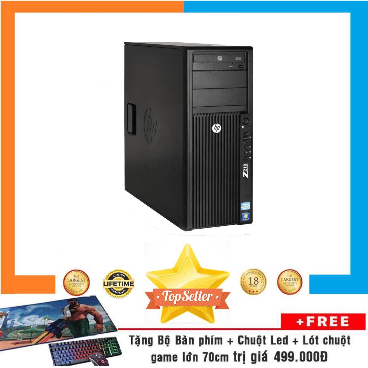 Máy Trạm HP WORKSTATION Z210 MT Nguyên Bản, Chạy CPU Core I5 2400, Ram ECC 8GB, SSD 120GB, HDD 2TB + Bộ Quà Tặng