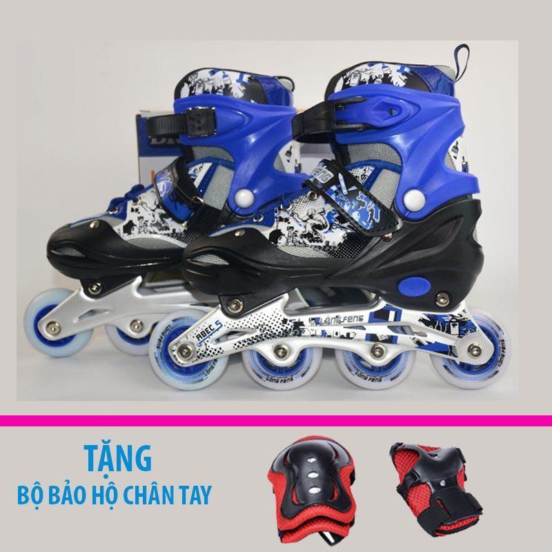 Mua Giày trượt patin trẻ em Longfeng 906 size S (Dưới 6 tuổi) + Tặng bộ bảo hộ chân tay