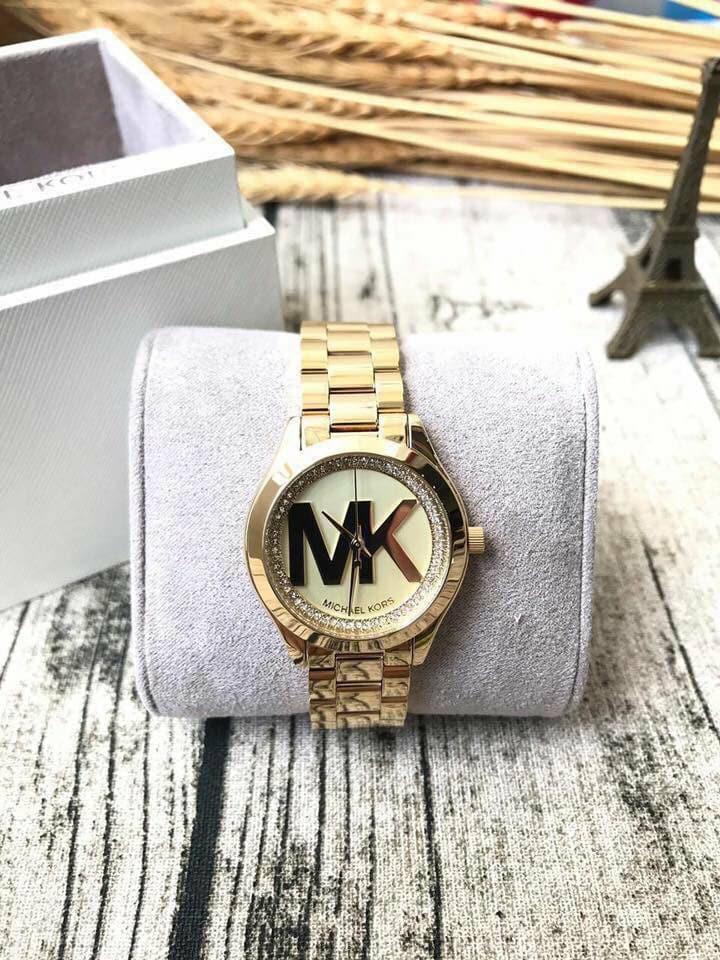 Nơi bán Đồng hồ nữ dây kim loại Michael Kors MK3477 (dây vàng)