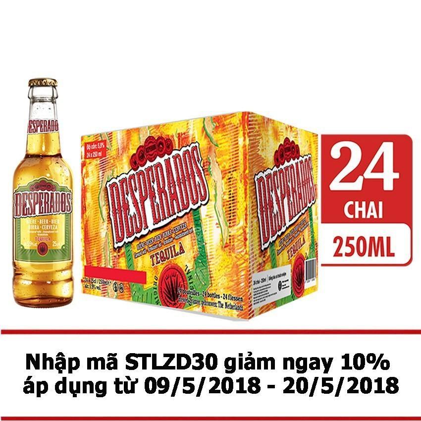 Thung 24 Chai Bia Desperados Hương Vị Tequila 250Ml Desperados Chiết Khấu 40