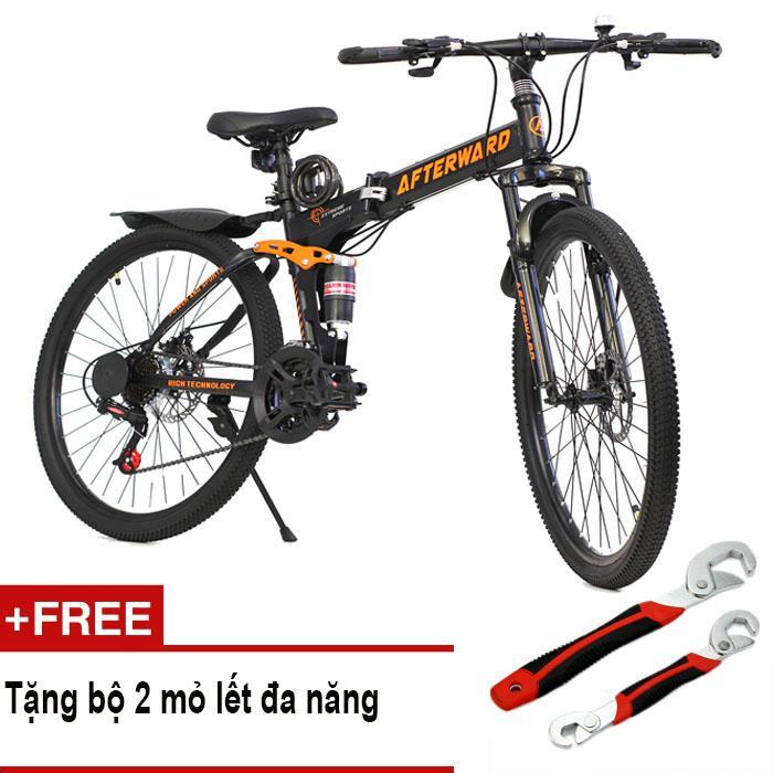 Xe đạp gấp địa hình AfterWard MK94 + Tặng 2 mỏ lết đa năng, bơm và khóa chống trộm