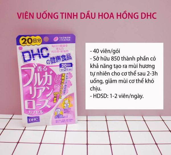 [CHÍNH HÃNG] Viên Uống Hoa Hồng Thơm Cơ Thể DHC Nhật Bản - Bulgaria Rose Oil - 40 viên (20 ngày) - TITIAN giá rẻ