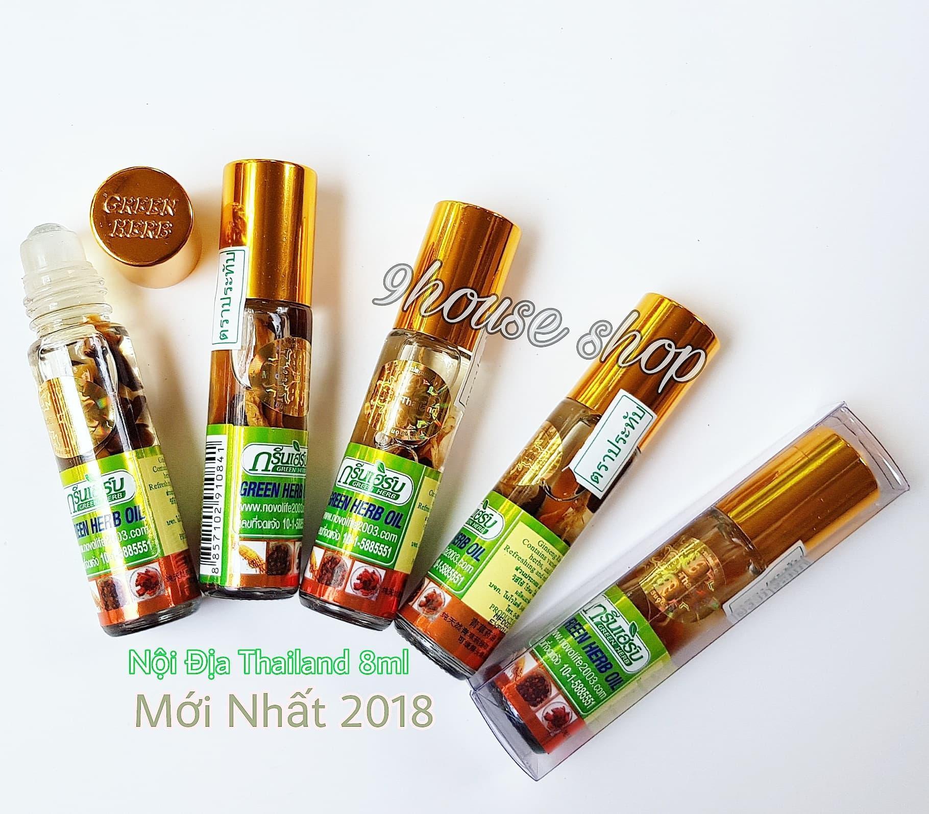 02 chai dầu nhân sâm Green Herb Oil Thái Lan (tem nội địa Thái) tốt nhất