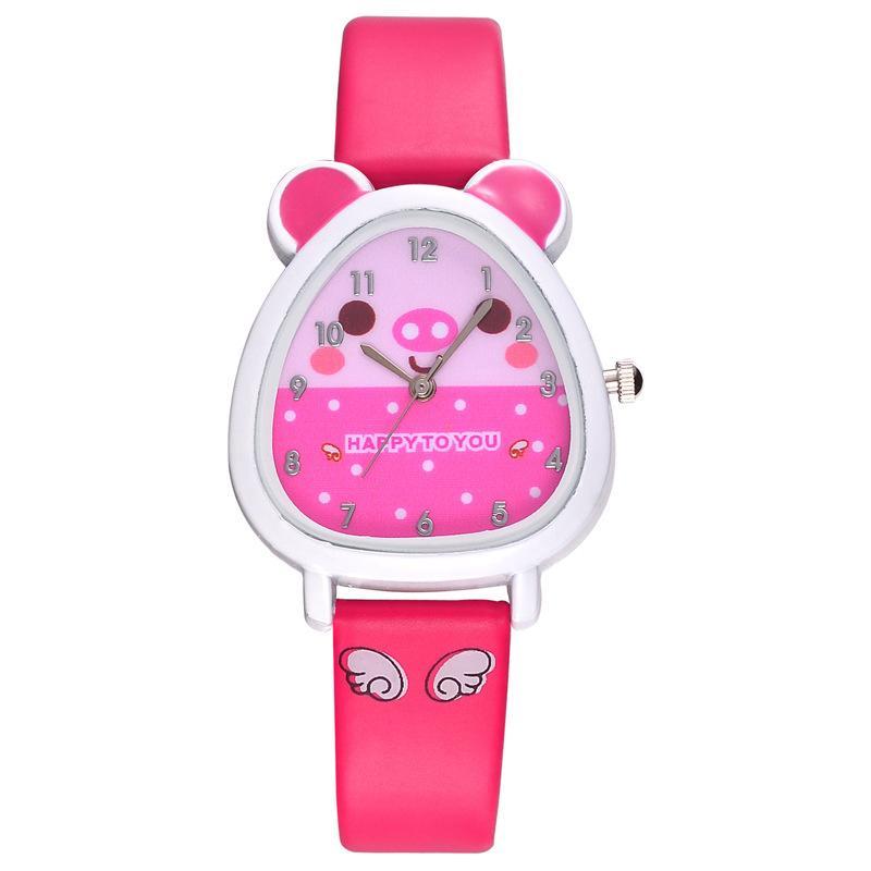 Nơi bán B-F Hamster Shaped Dial Quartz Wrist Watch with PU Leather Strap Cute Cartoon Watches
