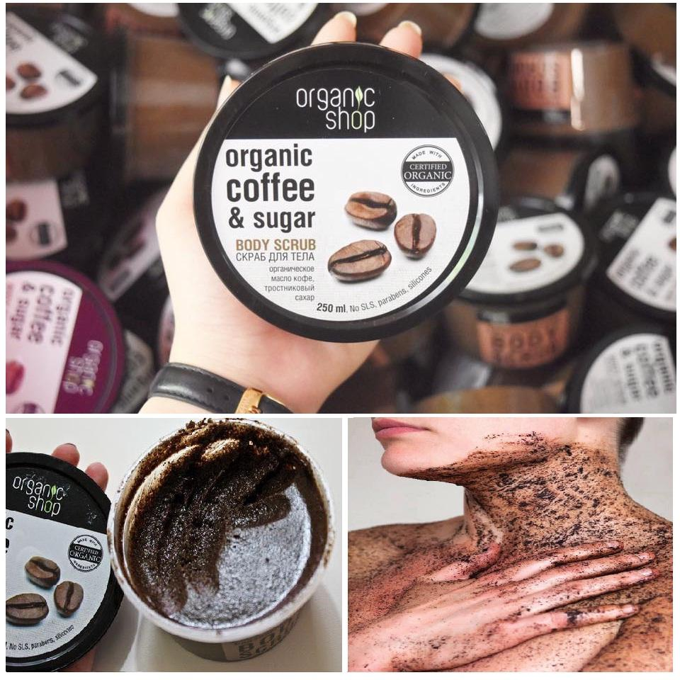 Tẩy Tế Bào Chết Toàn Thân Organic Shop Organic Coffee & Sugar Body Scrub  250g | Lazada.vn