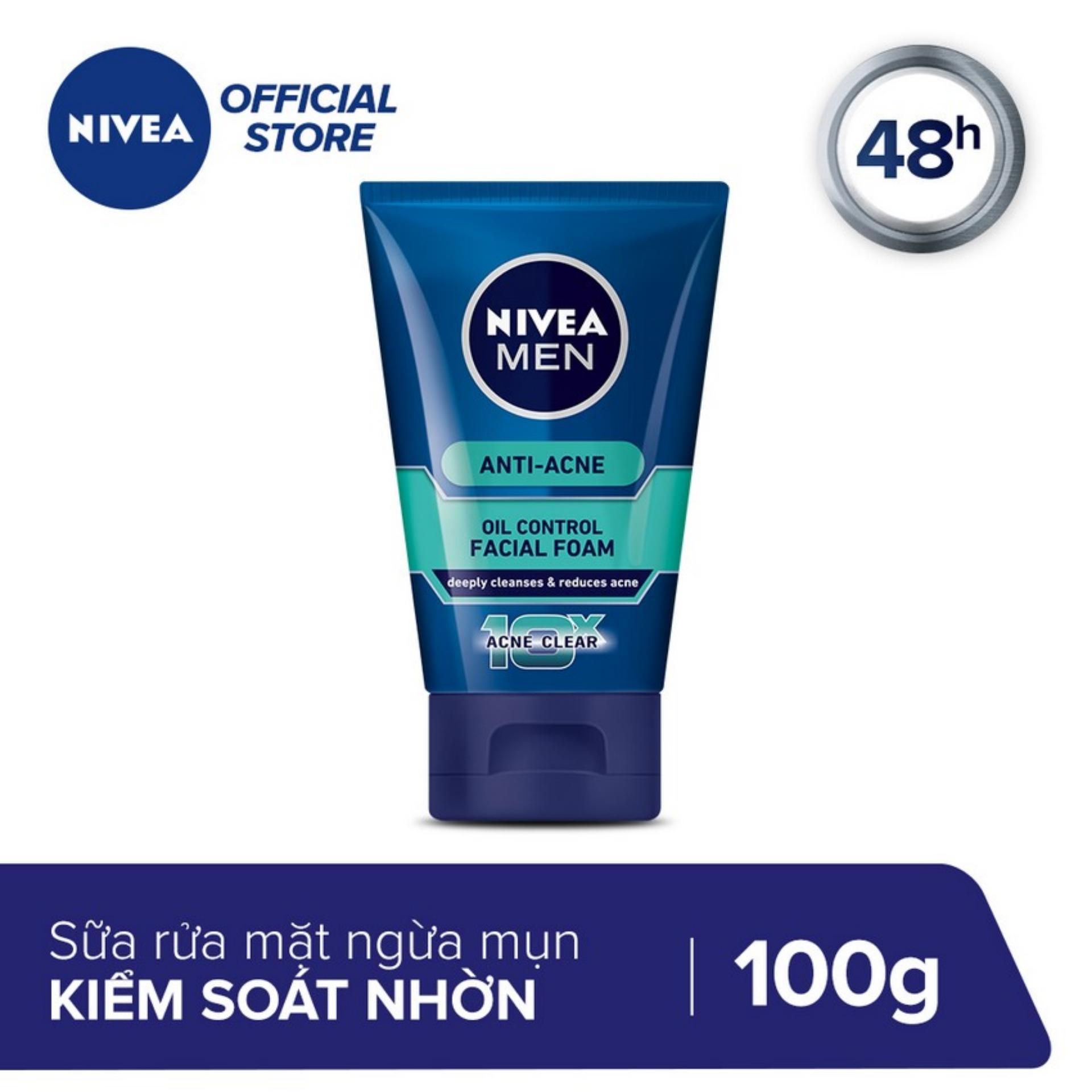 Sữa Rửa Mặt NIVEA MEN Ngừa Mụn Kiểm Soát Nhờn