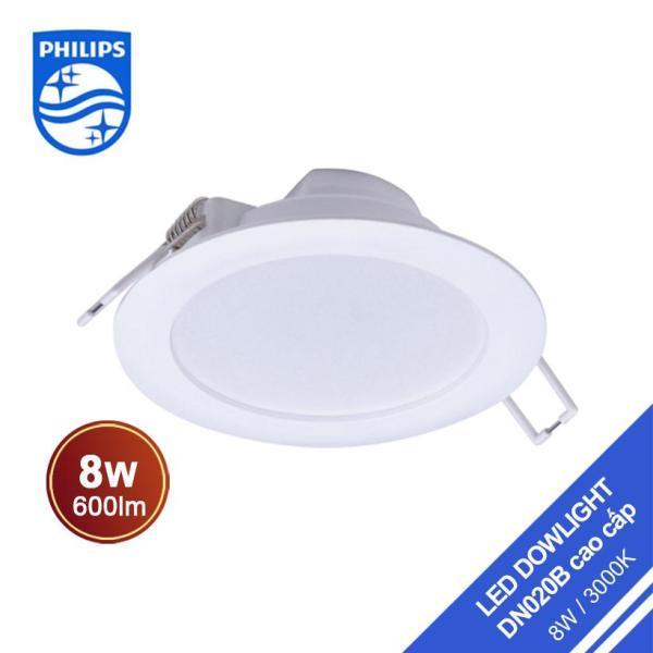 Đèn Philips LED Downlight âm trần DN020B 8W 3000K - Ánh sáng vàng