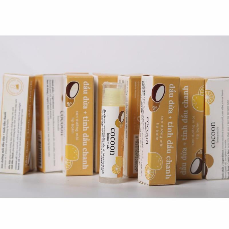 Bộ 5 cây Son dưỡng môi Lip care Cocoon 5g Mẫu mới nhập khẩu
