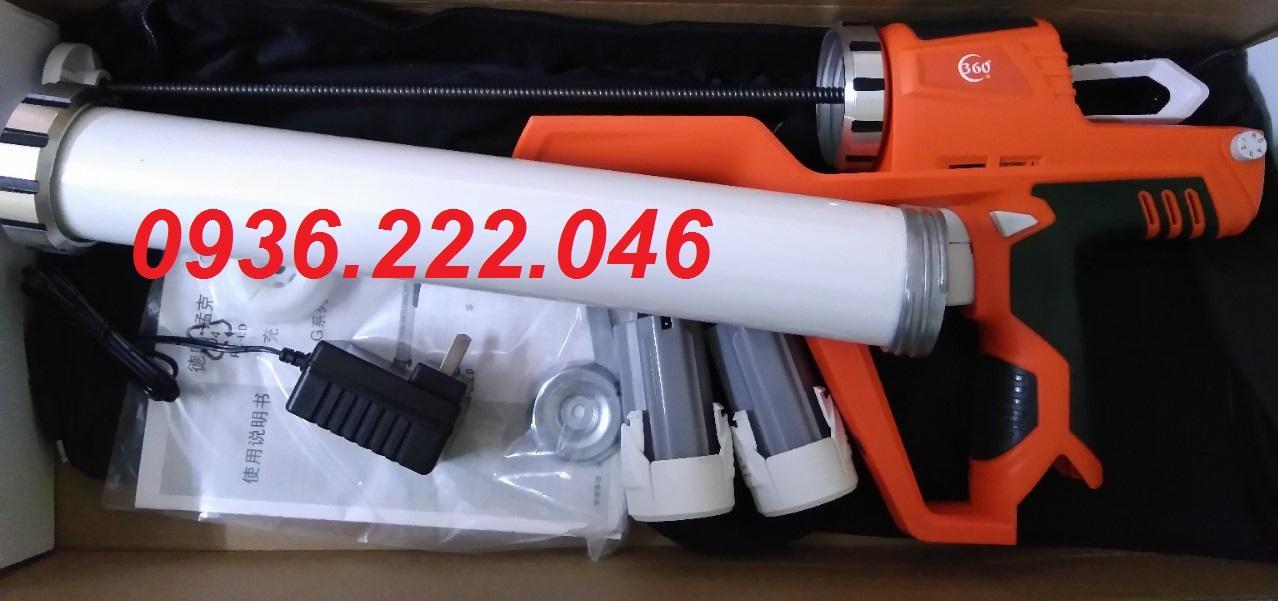 Súng bắn keo silicone 2 trong 1 tuýp apllo và keo túi bằng pin 12v Europro