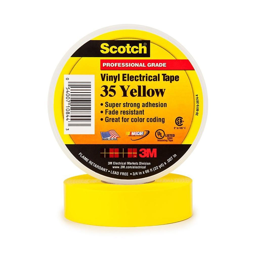 Băng keo 3M Scotch 35 19mm×20m (Vàng)