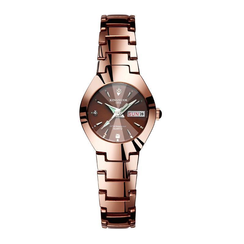 Nơi bán ĐỒNG HỒ NỮ KINGNUOS K1853 DÂY THÉP KHÔNG GỈ +tặng pin đồng hồ