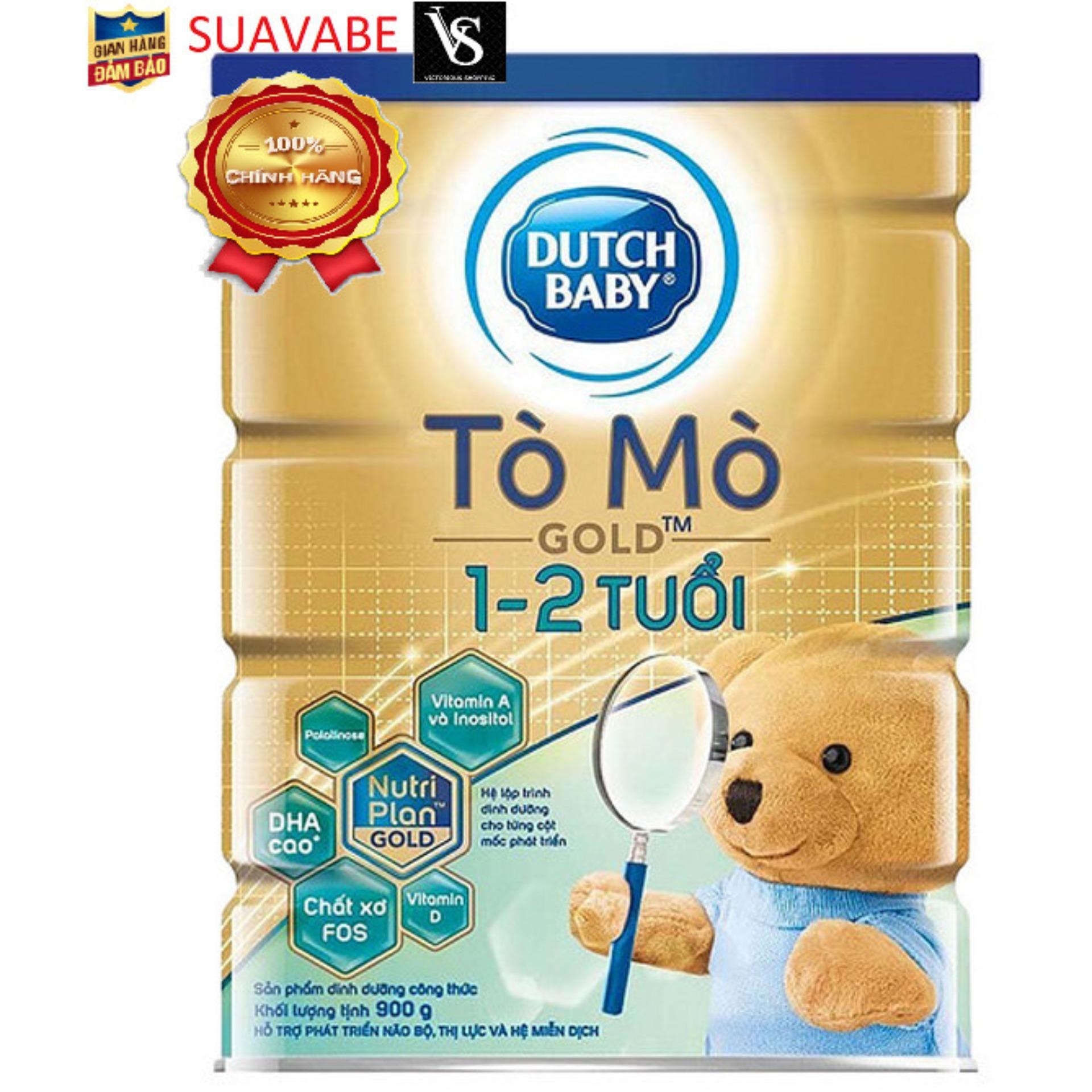 Sữa bột dutch lady Tò Mò gold 1-2 tuổi hộp 900g