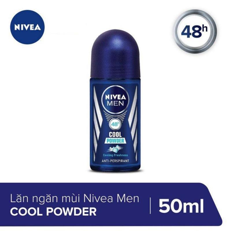 Lăn Ngăn Mùi Nivea Mát Lạnh Khô Thoáng Tức Thì Men Cool Powder 50ml _ 85964 nhập khẩu
