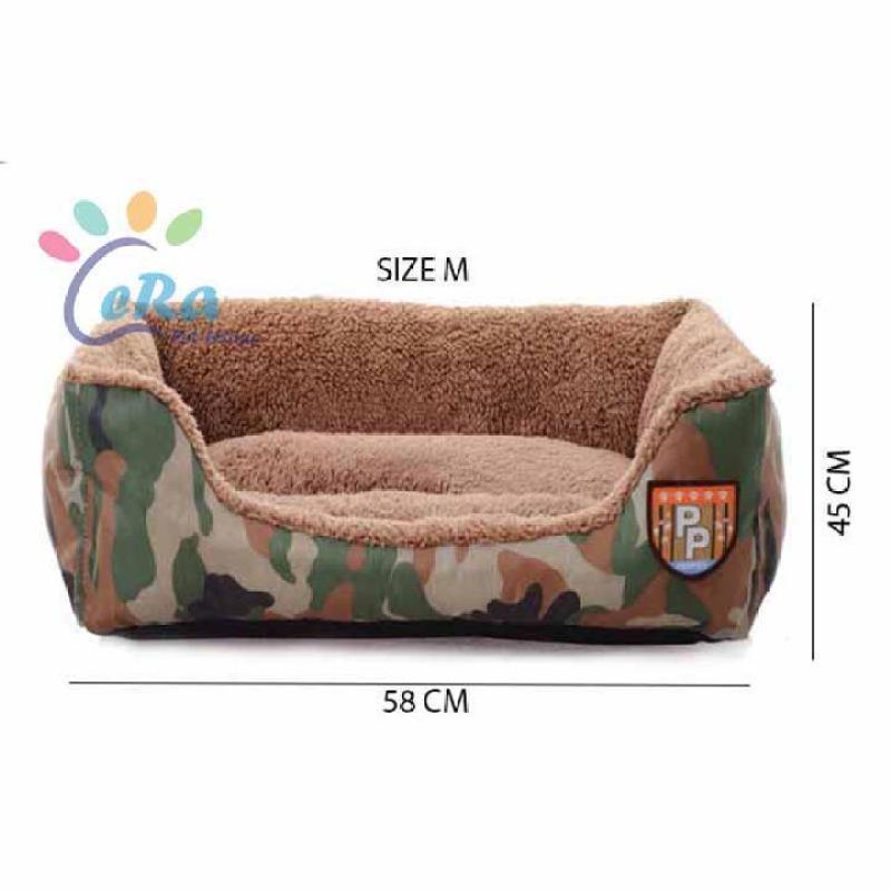 Giường - Nệm - Nhà - Lều - Chuồng - Ổ Cho Chó Mèo Họa Tiết Lính Cao Cấp (Nệm 004 Size M)