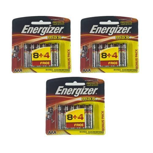 Combo 3 vỉ pin AAA Energize (vỉ 12 viên)