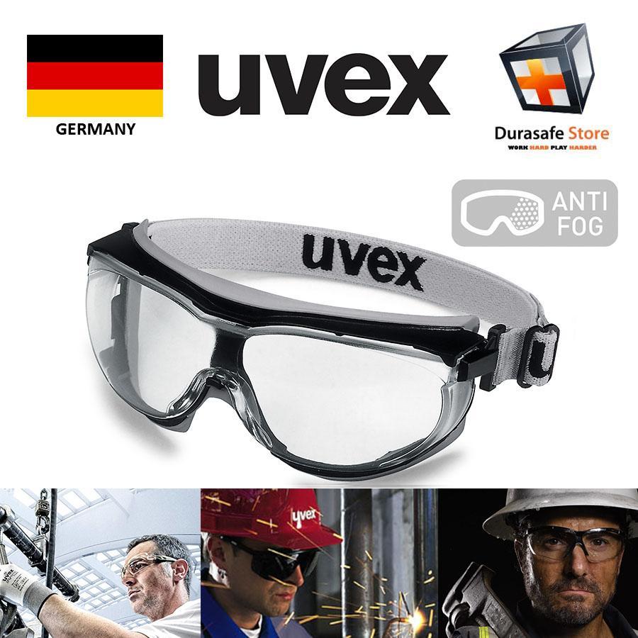 Kính Bảo Hộ UVEX 9307375 Carbonvision Wide Vision Safety Goggle Black Frame Clear Supravision Extreme Len