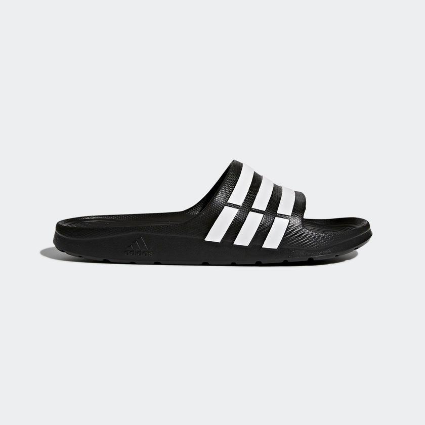 Bán Dep Adidas Duramo Slide Black White Adidas Trực Tuyến