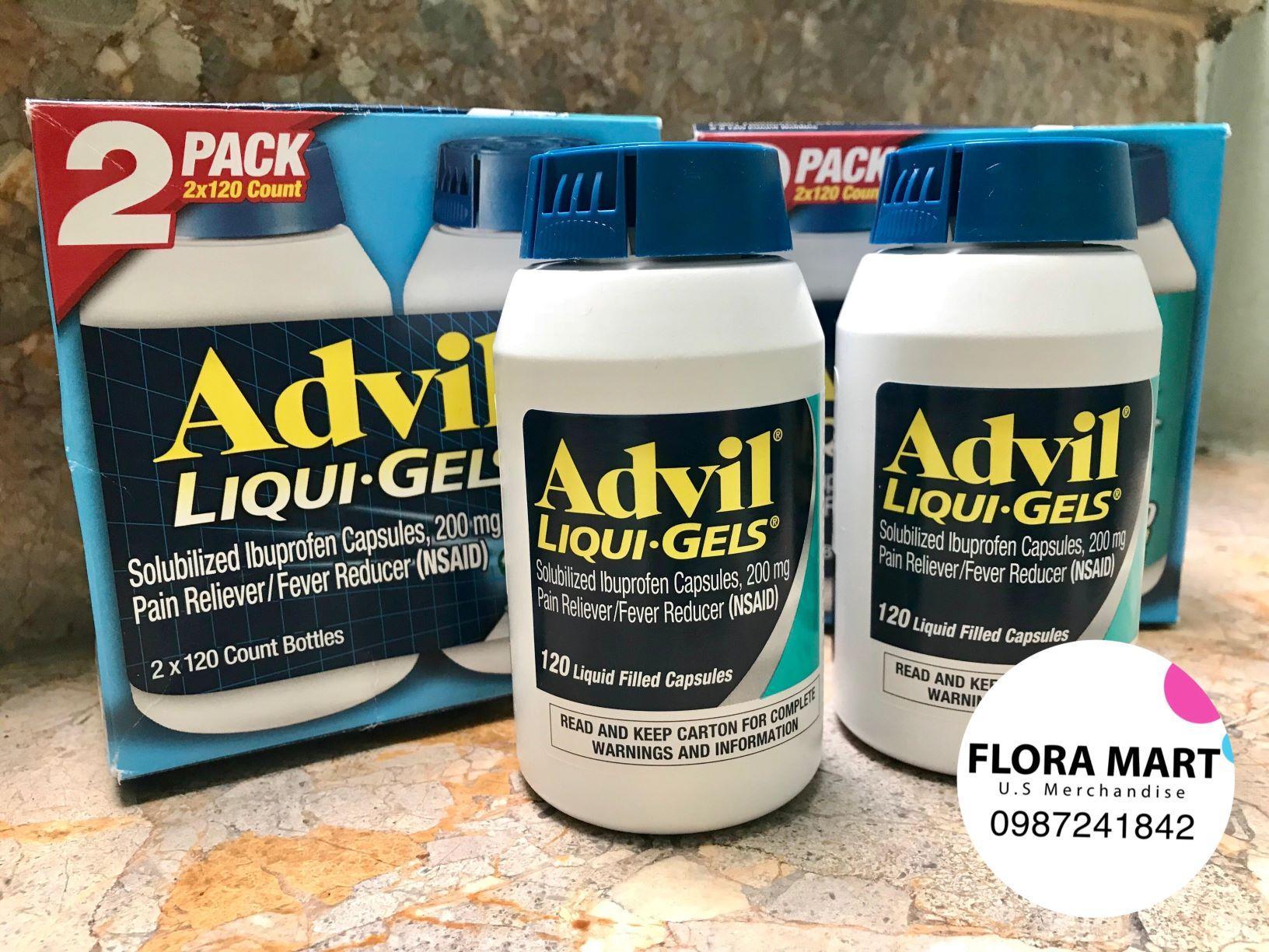 Hình ảnh Thuốc giảm đau Advil Liqui-Gels 120 viên