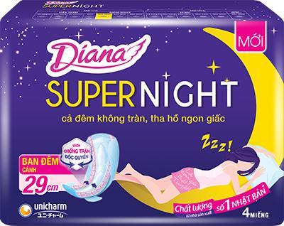 Combo 6 gói BVS Diana Super Night 29cm chính hãng