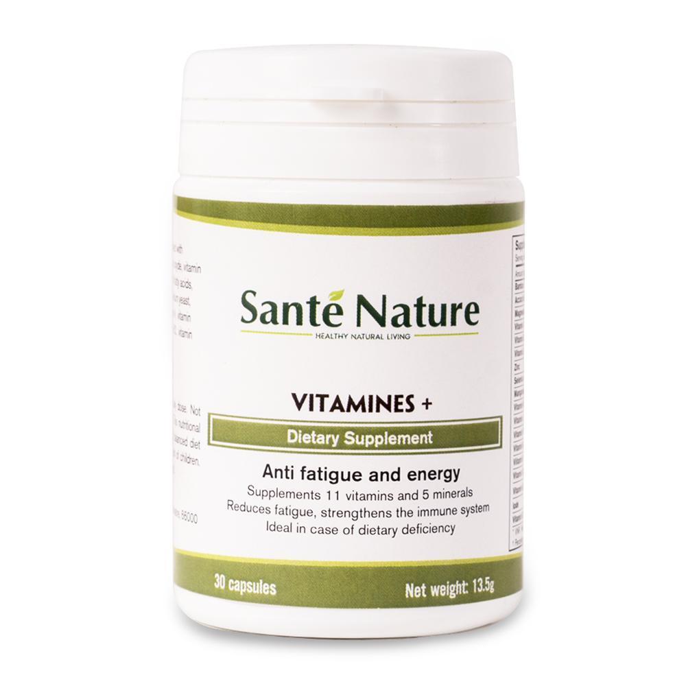 Viên uống giúp tăng cường sinh lực Santé Nature Vitamines + chính hãng