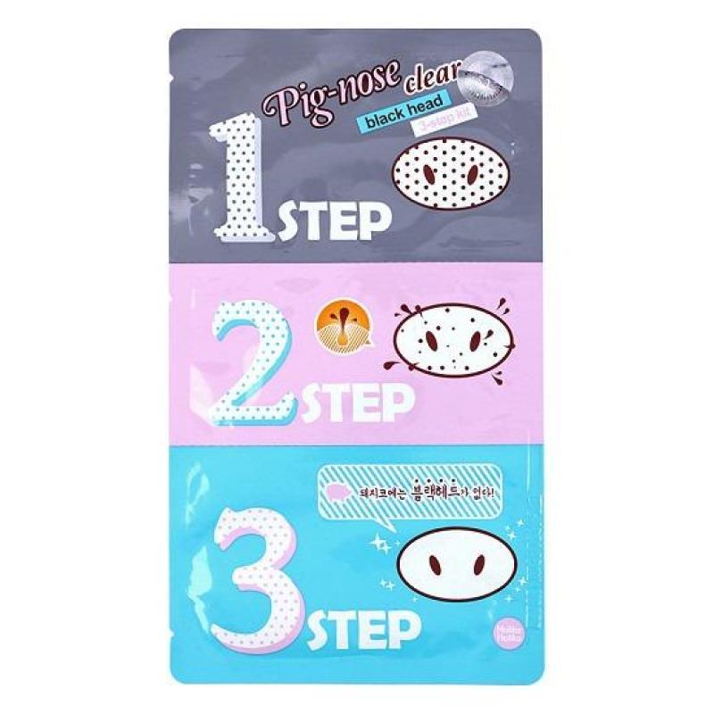 Mặt Nạ Lột Mụn Đầu Đen 3 Bước Holika Holika Pig Nose Clear Black Head 3-Step Kit - 30ml nhập khẩu