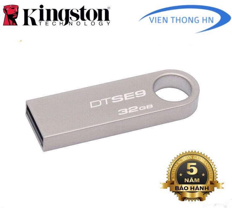 USB 2.0 Kingston DataTraveler SE9 32GB - CÓ NTFS - CAM KẾT BH 5 NĂM 1 ĐỔI 1