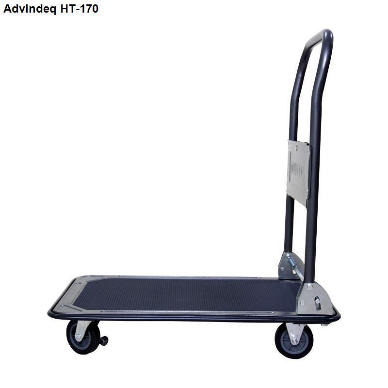 Xe đẩy hàng 4 bánh sàn thép phủ nhám Advindeq HT-170 (tải trọng 170kg)