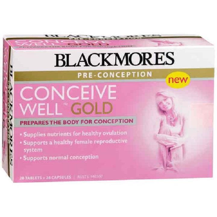 Viên uống tăng khả năng thụ thai Blackmores Conveice Well Gold của Úc chính hãng