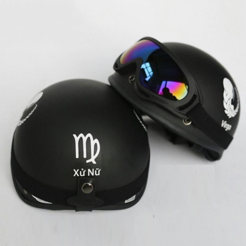 Mũ bảo hiểm 1/2 đầu cung hoàng đạo + Tặng kính Uv chống bụi cao cấp - N088