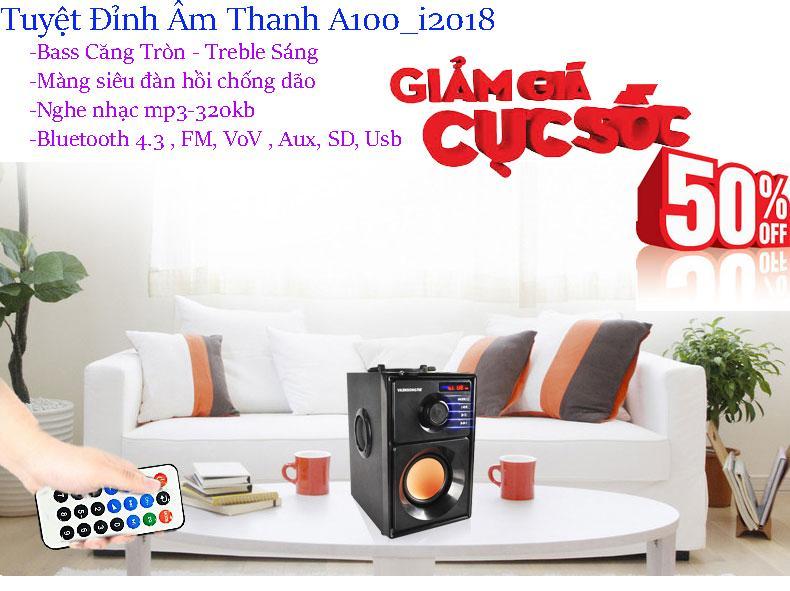 Hình ảnh App Nhaccuatui, Tuyệt Đỉnh Âm Thanh Loa A100 - 203 Korea, Bass ấm, Treble Sáng, Tiếng Trong, Nghe Nhạc Mp3 320Kb , Bluetooth 3.0, Fm 50Hz, Giá Sỉ Giảm 25% Mã Sp 029