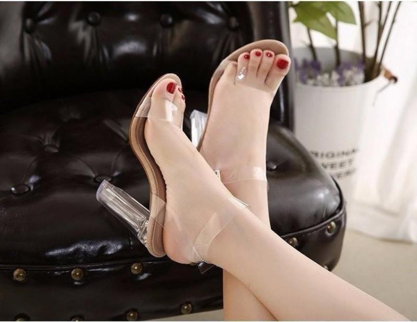 Giày cao gót Trong DÂY MẢNH quai Trong MYS giá rẻ
